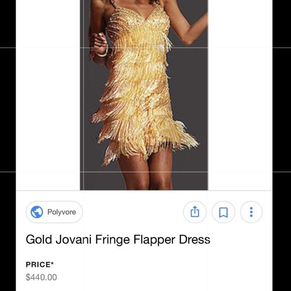 Gold Fringe Dress Polyvore